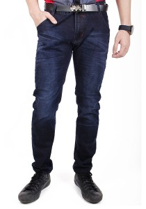 Trendy Dark Blue Slim Fit Jeans