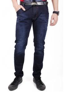 Trendy Dark Blue Slim Fit Jeans