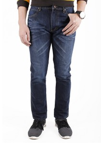 Dark Blue Regular Slim Jeans