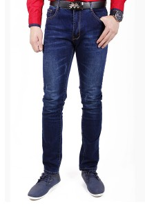 Dark Blue Stretch Slim Fit Jeans