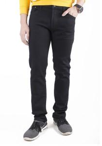Black Elegant Regular Cutting Men Jeans