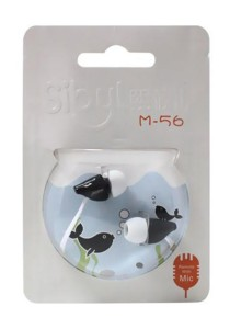 Sibyl Earphone with Mic M56 (White)