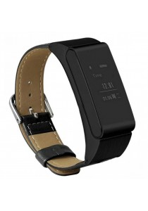 iBand M8 Bluetooth Headset Smart Watch Bracelet Talk Band (Leather Strap)