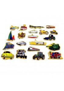 Onshine Magnetic Wooden Puzzle 123 + Transport (set of 2)