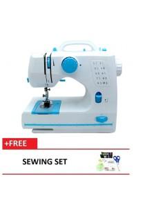 Maidronic Sewing Machine HL-508B 10 Sewing options (Light Blue) + Sewing Set