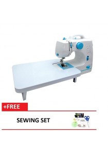 Maidronic Sewing Machine HL-508B 10 Sewing options With Expansion Board (Light Blue) + Sewing Set