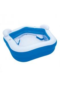 Bestway 575L kids'' play pool 213cm x 207cm x 69cm interactive padding inflatab