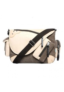 Momorain Korea Vintage Canvas Fashion Messenger Bag (Brown)