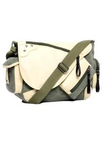 Momorain Korea Vintage Canvas Fashion Messenger Bag (Green)