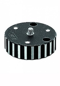 "Manfrotto 120 Converter Plate Converts Tripod Head Screws from 38"" to 14"""