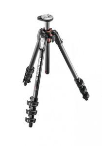 Manfrotto MT190CXPRO4 4 Section Carbon Fiber Tripod Legs with Q90 Column Black