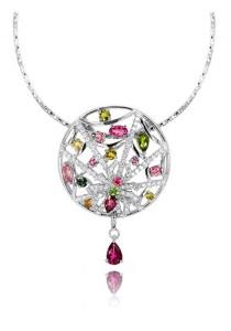Mayarashi Tourmaline Spider Pendant Necklace