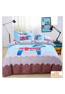 Maylee High Quality Fashion 4 Pcs UK Flag Horse King Bedding Set (P-AMS)