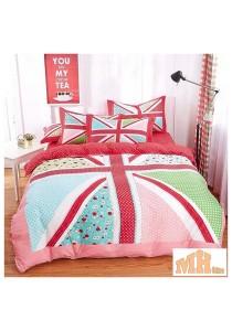 Maylee High Quality Fashion 4 Pcs Red Flag King Bedding Set (P-MGL)