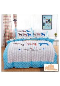 Maylee High Quality Fashion 4 Pcs Horses King Bedding Set (P-WCBM)