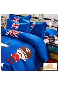 Maylee High Quality Fashion 4 Pcs London King Bedding Set (P-YLSB)
