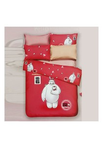 Cartoon Theme 4 Pcs Cotton Bedding Set (4 Pcs C BH)