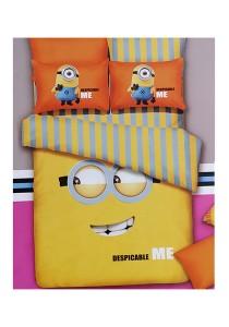 Cartoon Theme 4 Pcs Cotton Bedding Set (4 Pcs C DM) Yellow