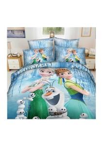 Cartoon Theme 4 Pcs Cotton Bedding Set (4 Pcs C FRO)