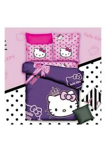 Cartoon Theme 4 Pcs Cotton Bedding Set (4 Pcs C HK) Purple