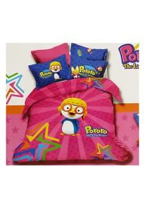 Cartoon Theme 4 Pcs Cotton Bedding Set (4 Pcs C PRR)