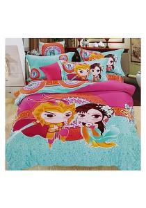 Cartoon Theme 4 Pcs Cotton Bedding Set (4 Pcs C SANG)
