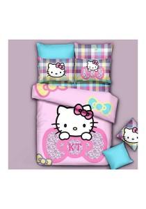 Cartoon Theme 4 Pcs Cotton Bedding Set (4 Pcs C SHK)