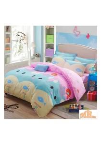 Maylee High Quality Fashion 5 Pcs Lovely Cat Single Bedding Set (FM-S-LCAT)