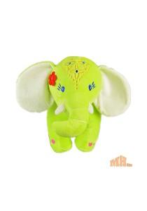 Maylee Big Colourful Plush Elephant 28cm (Green)