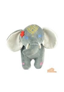 Maylee Big Colourful Plush Elephant 28cm (Grey)