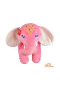 Maylee Big Colourful Plush Elephant 28cm (Pink)