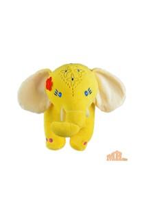 Maylee Big Colourful Plush Elephant 28cm (Yellow)