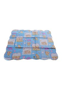 Maylee Cotton Patchwork Baby Quilted (BQ Bear-blue)