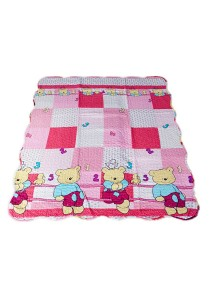 Maylee Cotton Patchwork Baby Quilted (BQ Bear-pink)
