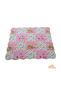 Maylee Cotton Patchwork Baby Quilted Honey Bear