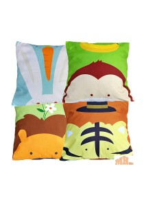 Maylee 4 Pcs Cute Animals Multicolour Pillow Cases