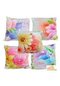 Maylee 5 Pcs Multicolour Flower Pillow Cases