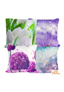 Maylee 4 Pcs Multicolour Pillow Cases (Flower)