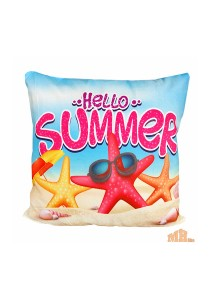 Maylee High Quality Printed Hello Summer Beach Pillow Cases
