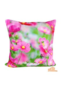 Maylee High Quality Printed Lovely Pink Flower Pillow Cases