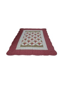 Maylee Patchwork Cotton Carpet (Ct Classic-Red)