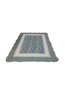 Maylee Patchwork Cotton Carpet (Ct Flower-Blue)