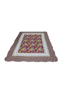 Maylee Patchwork Cotton Carpet (Ct Flower-Red)