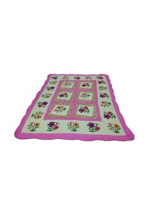 Maylee Patchwork Cotton Carpet (Ct Lovely Flower-Pink)