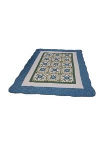 Maylee Patchwork Cotton Carpet (Ct Modern-Blue)