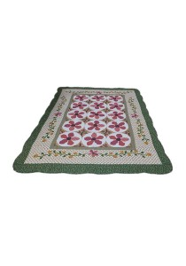 Maylee Patchwork Cotton Carpet (Ct Orkid-Green)