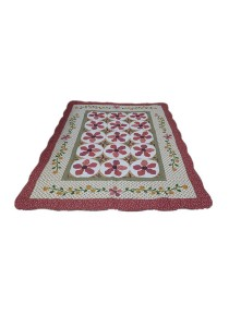 Maylee Patchwork Cotton Carpet (Ct Orkid-Red)