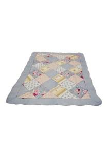 Maylee Patchwork Cotton Carpet (Ct Patch-Blue)
