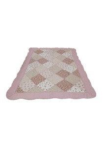 Maylee Patchwork Cotton Carpet (Ct Patch-Pink)