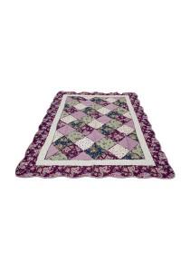 Maylee Patchwork Cotton Carpet (Ct Patch-Purple)